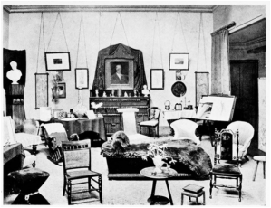 Figure Two: A photograph of St Jude's Vicarage drawing room from Henrietta Barnett, Canon Barnett: His Life, Work and Friends (London; 1921), p.782.