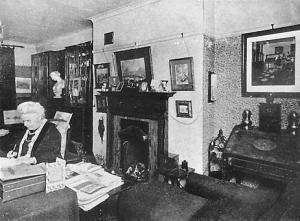 Henrietta Barnett's Writing Room, c.19??. image from Hampstead Heath Garden Suburb Archive.